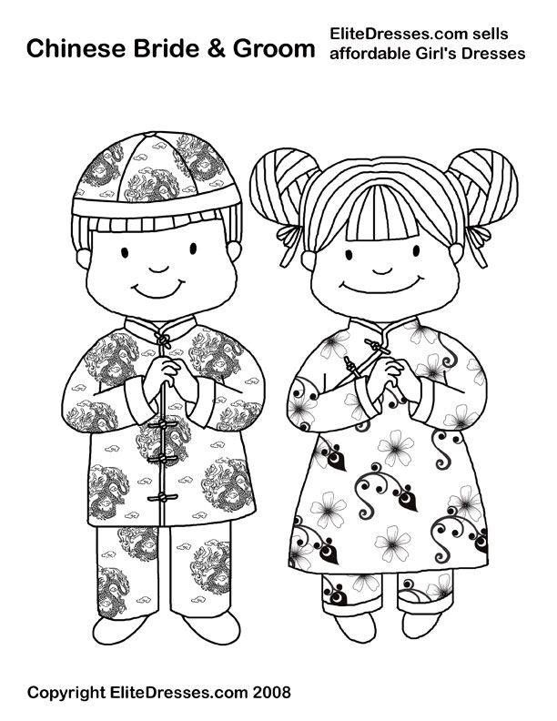 chinese boy and girl coloring pages photo - 1