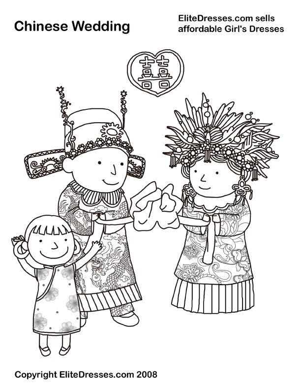 chinese clothing coloring pages photo - 1