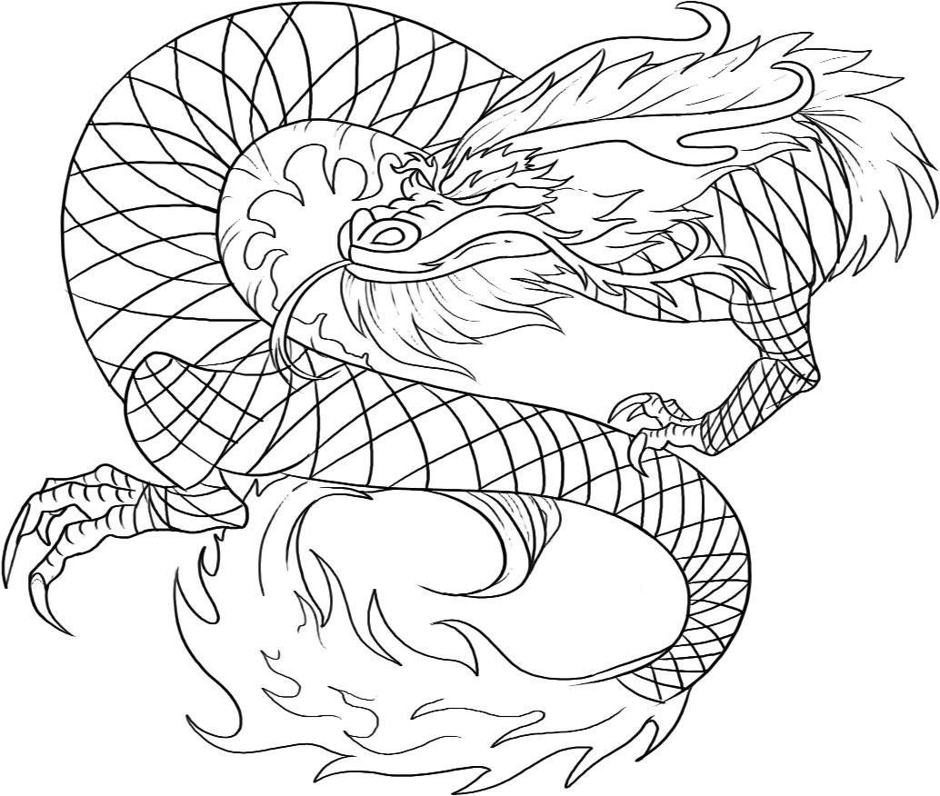 chinese dragon coloring pages to print photo - 1