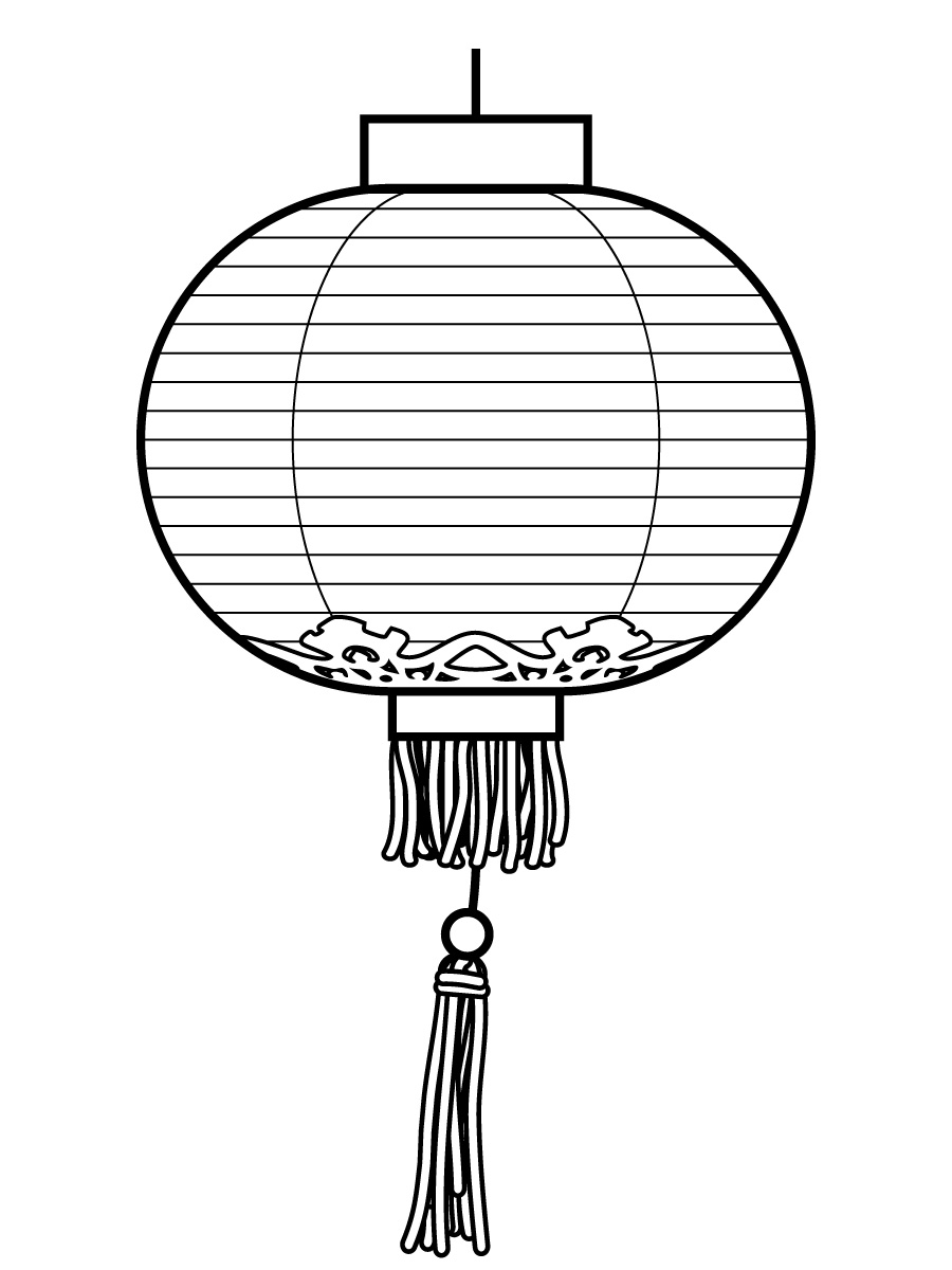 chinese lantern festival coloring pages photo - 1