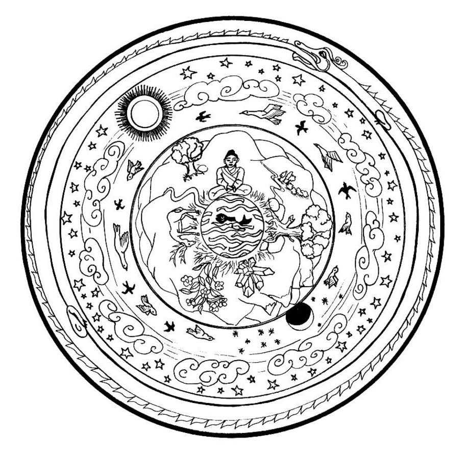 chinese mandala coloring pages photo - 1