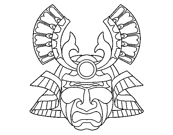 chinese opera mask coloring pages photo - 1