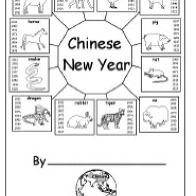 chinese zodiac signs coloring pages photo - 1