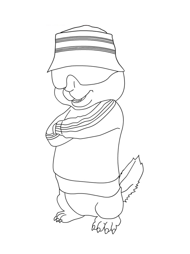 chipmunks christmas coloring pages photo - 1