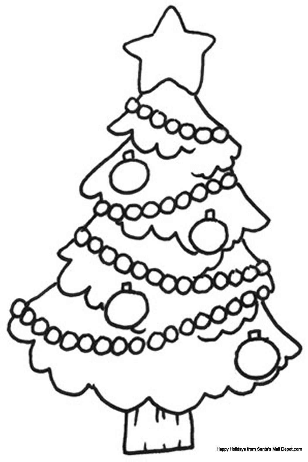 christmas coloring page photo - 1