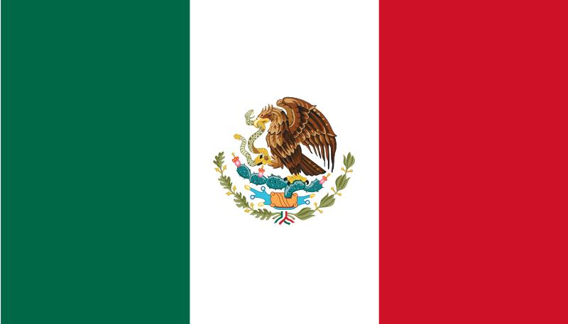 color page mexican flag photo - 1