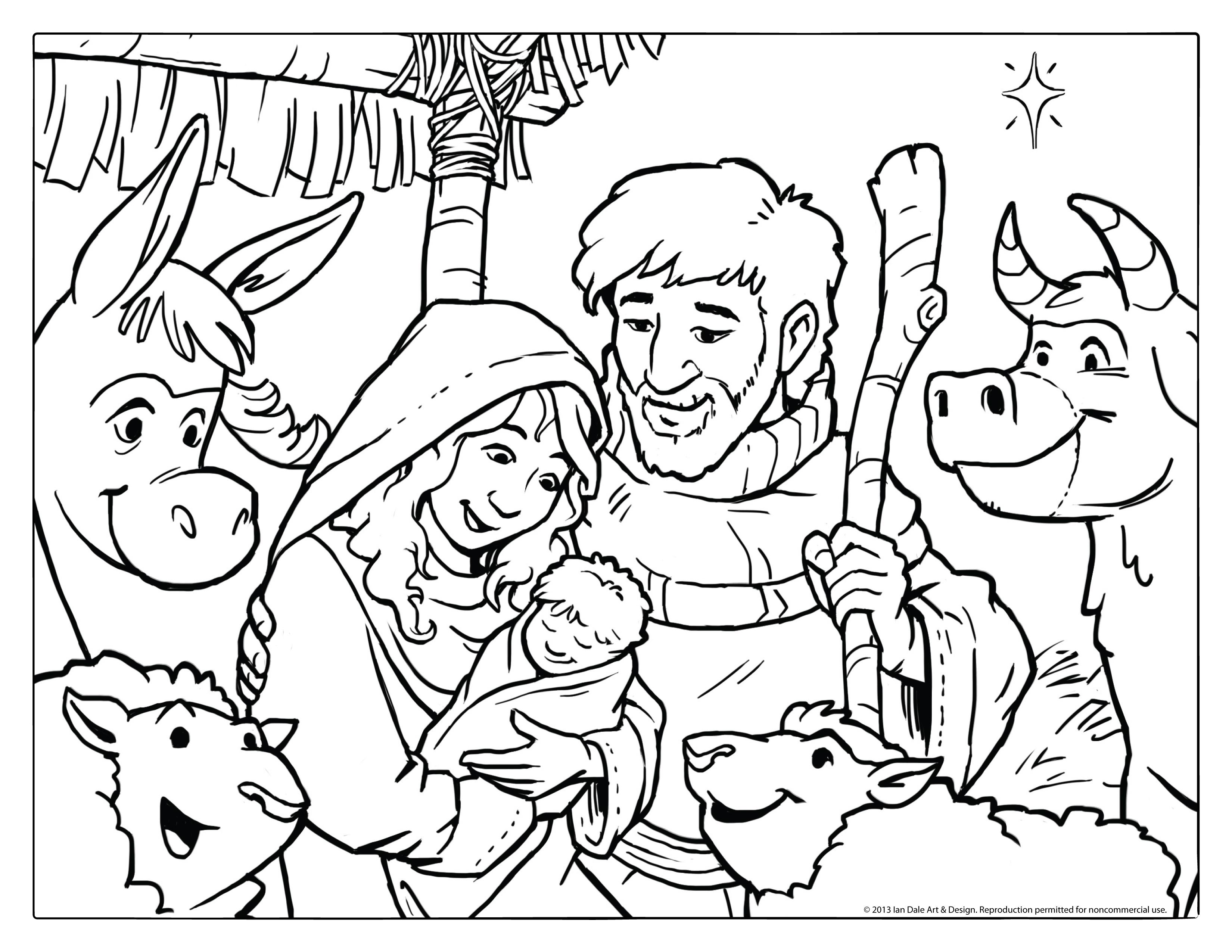 color page nativity scene photo - 1