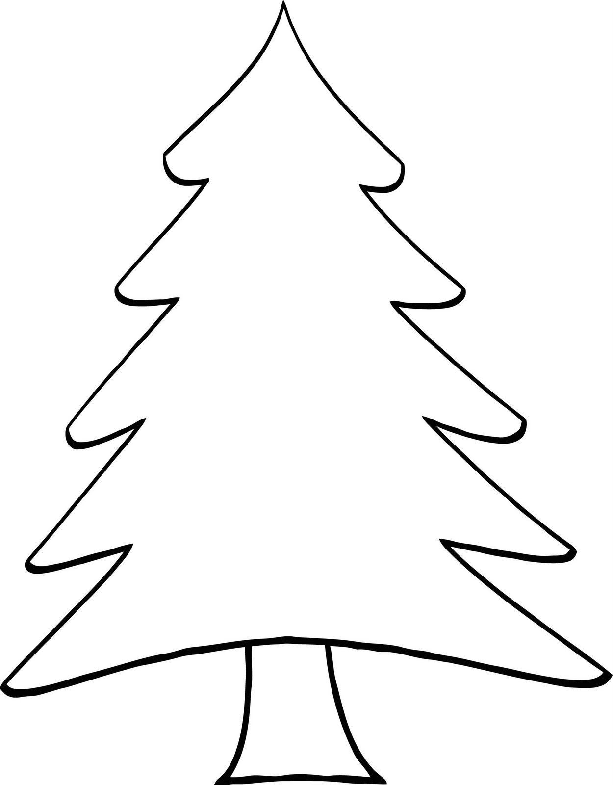 color pages christmas trees photo - 1