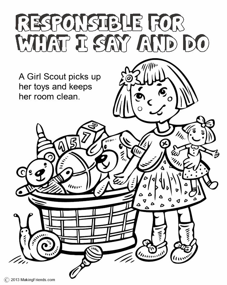 color pages for girl scouts photo - 1