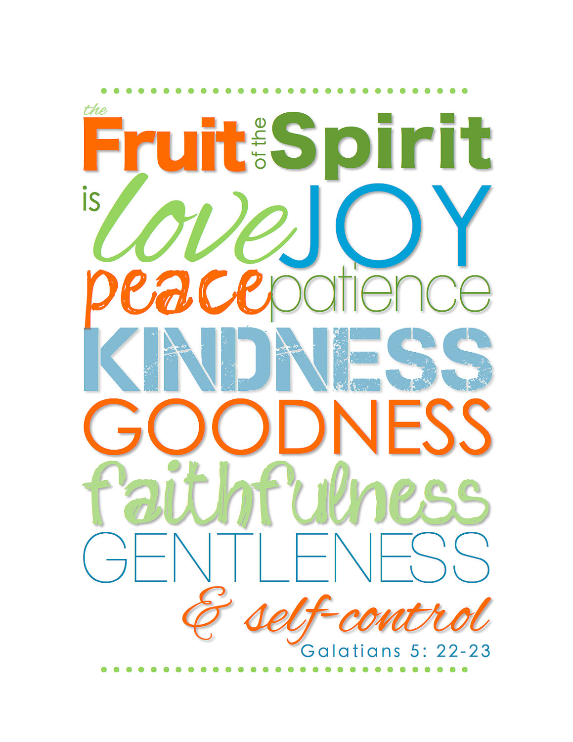 color pages fruit of the spirit photo - 1