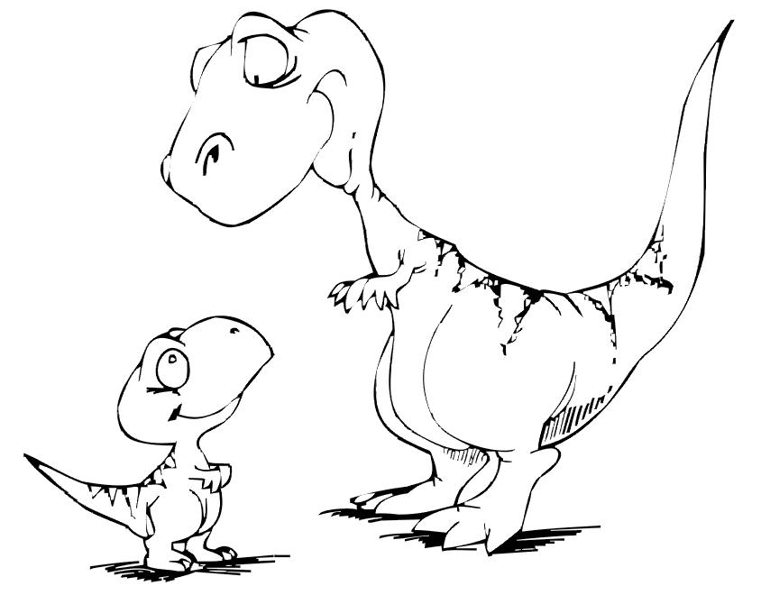 color pages of dinosaurs photo - 1