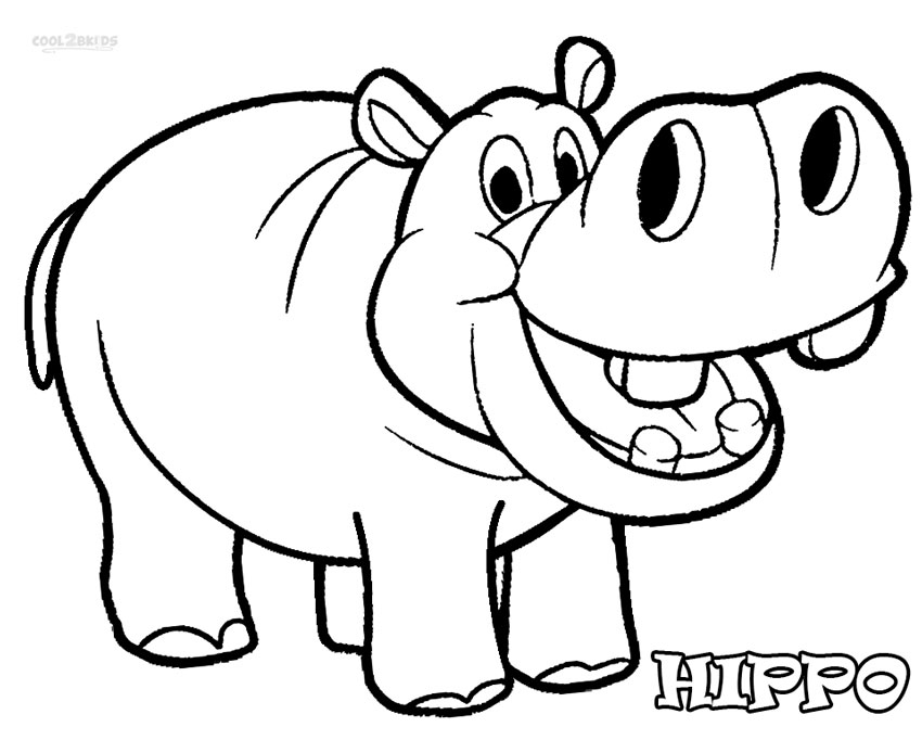 color pages of hippos photo - 1