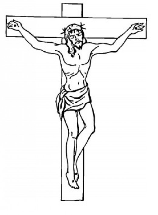 color pages of jesus on the cross photo - 1