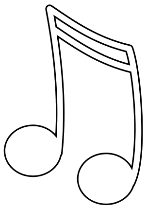 color pages of music notes photo - 1