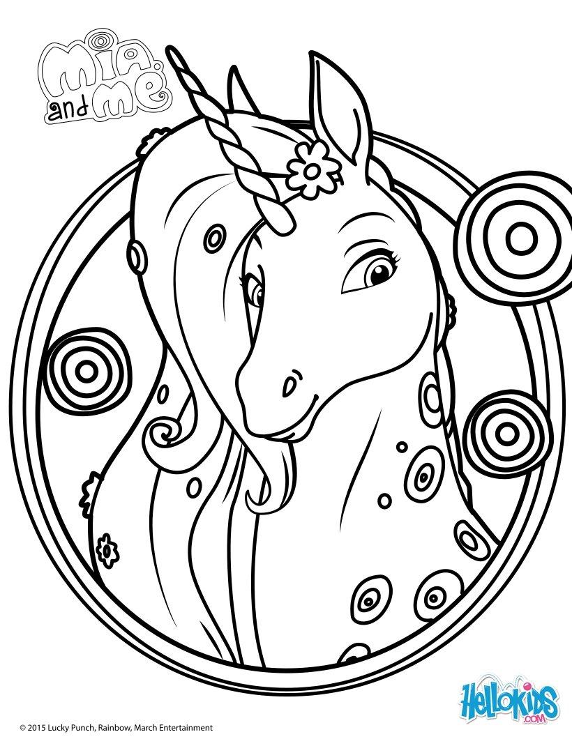 color pages unicorn photo - 1