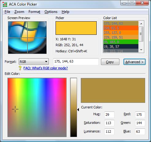 color picker web pages photo - 1