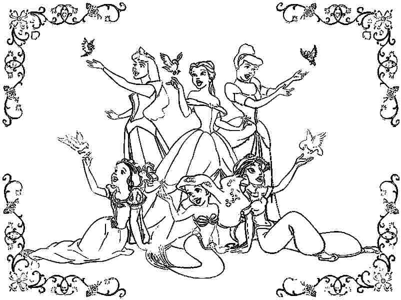 coloring pages for girls photo - 1
