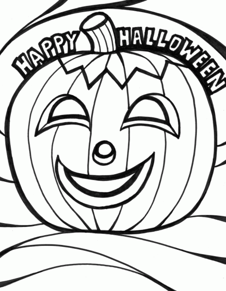 coloring pages for halloween photo - 1