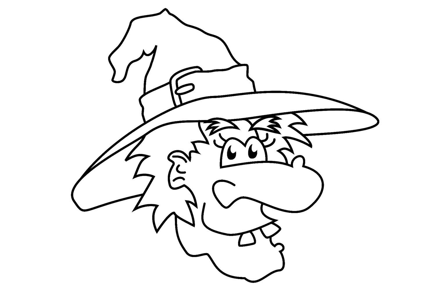 coloring pages for halloween witches photo - 1