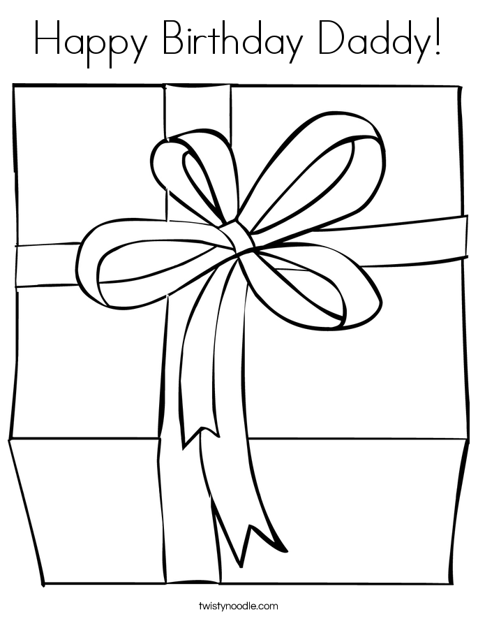 coloring pages for happy birthday daddy photo - 1