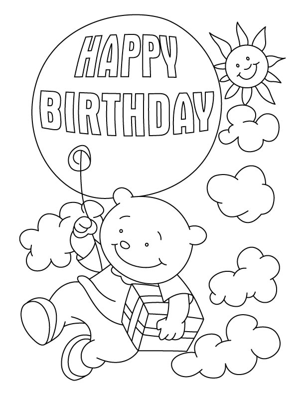 coloring pages for happy birthday moon photo - 1