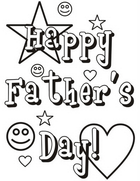 coloring pages for happy father day photo - 1