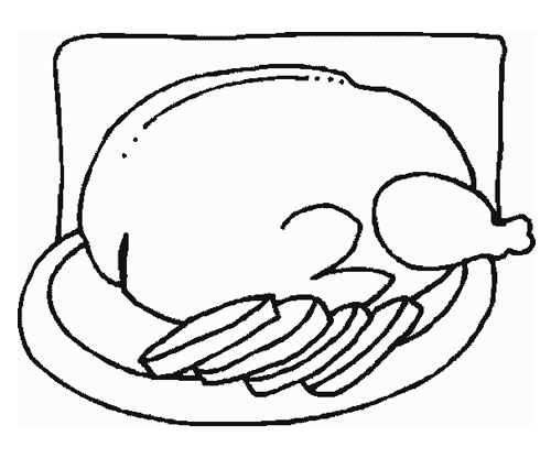 coloring pages for healthy food photo - 1