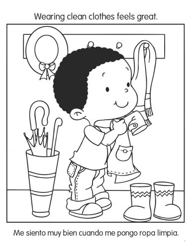 coloring pages for healthy habits photo - 1