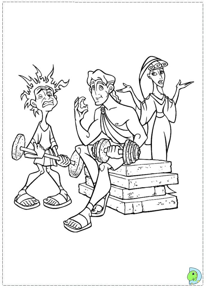 coloring pages for hercules photo - 1