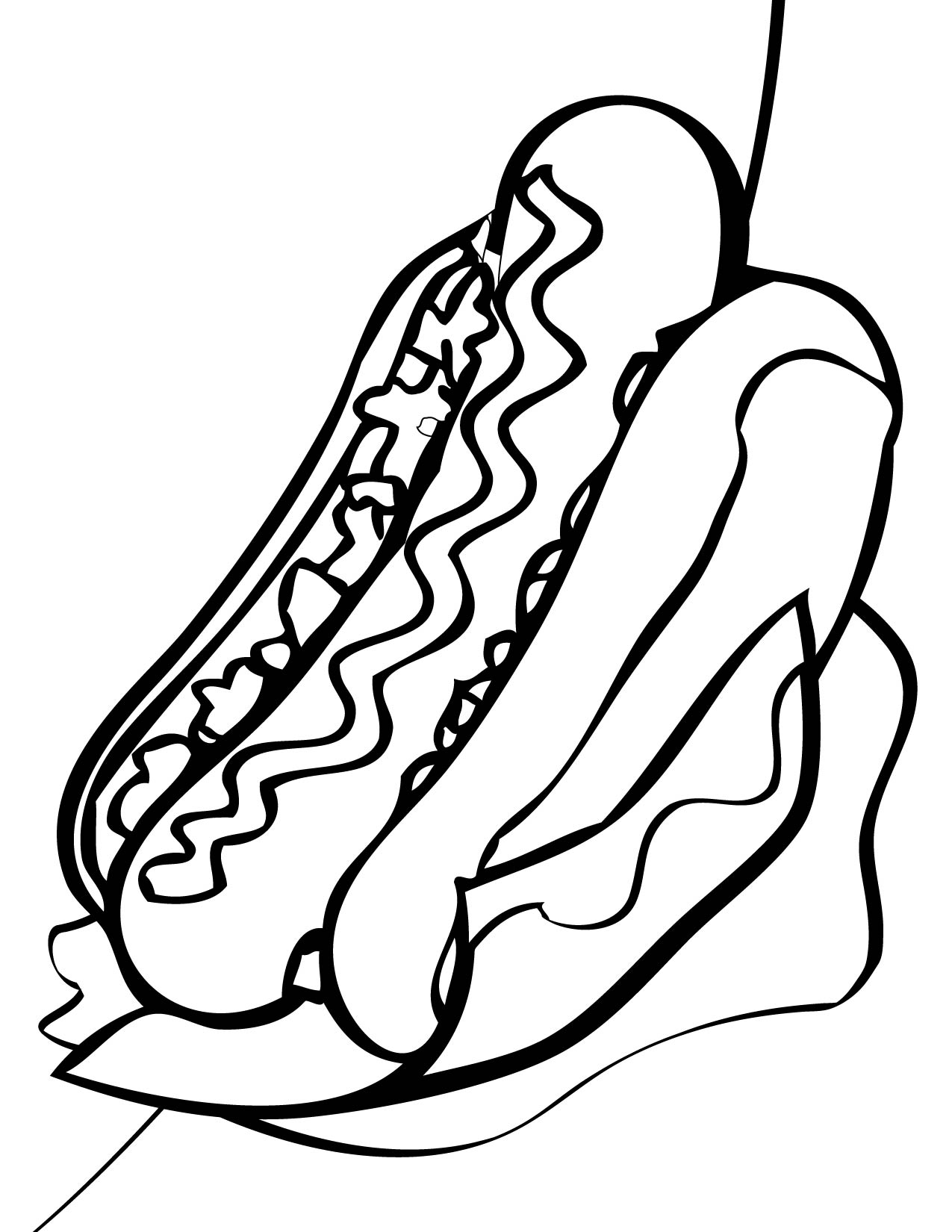 coloring pages for hot dogs photo - 1