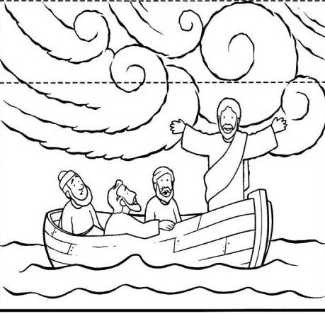 coloring pages for jesus calms the storm photo - 1