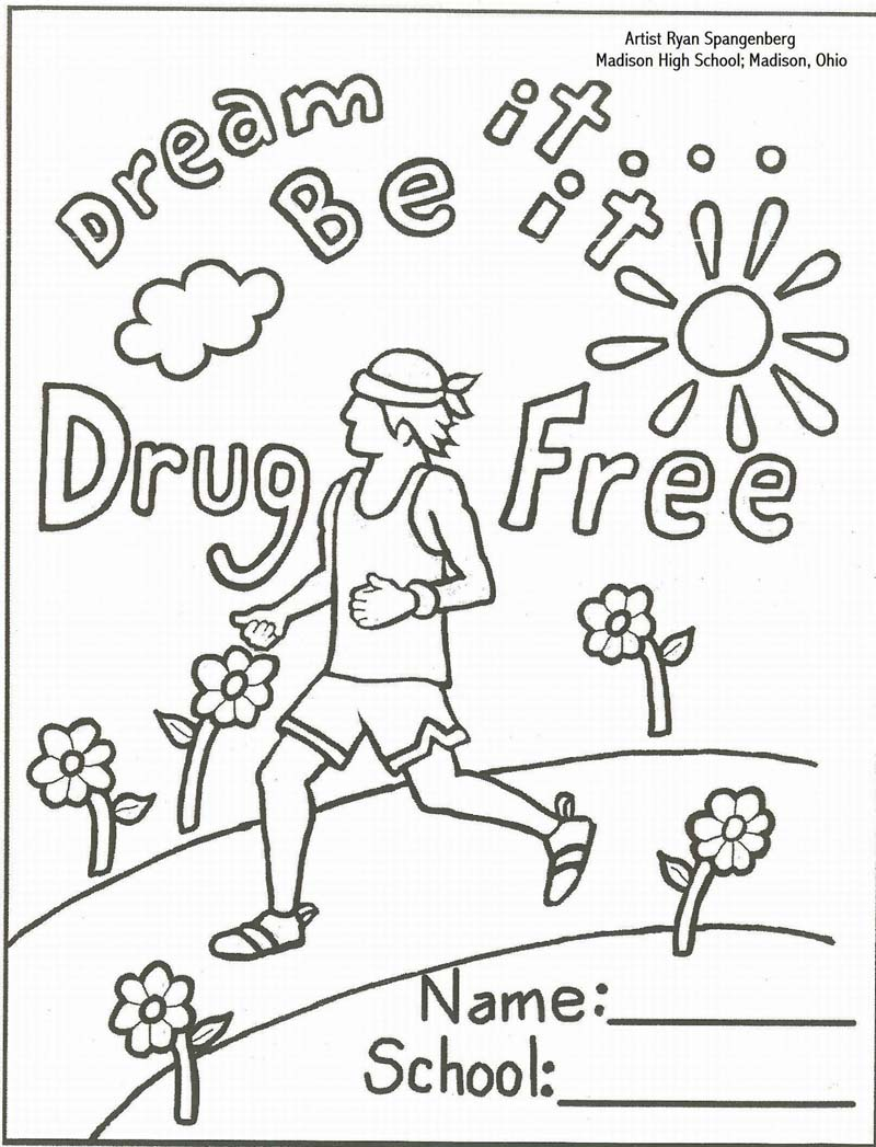 coloring pages for just say no to drugs photo - 1