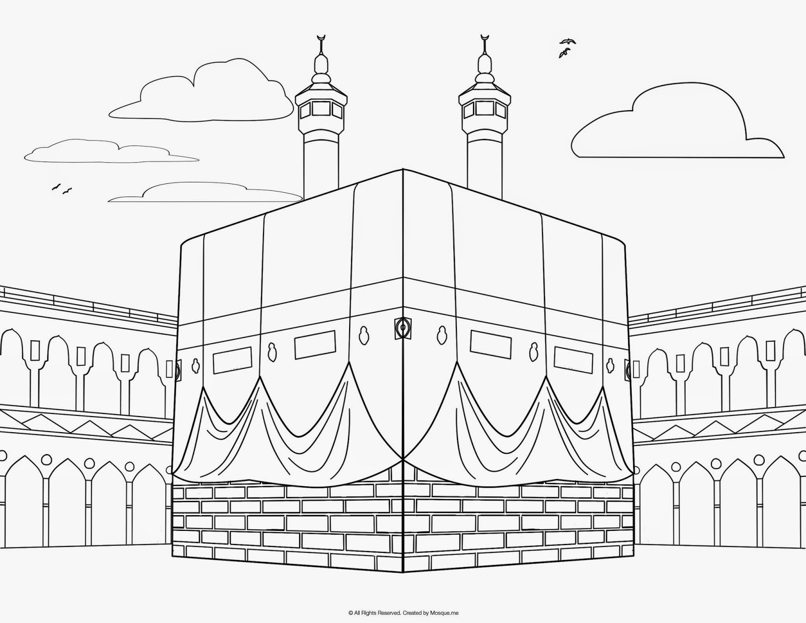 coloring pages for kaaba photo - 1