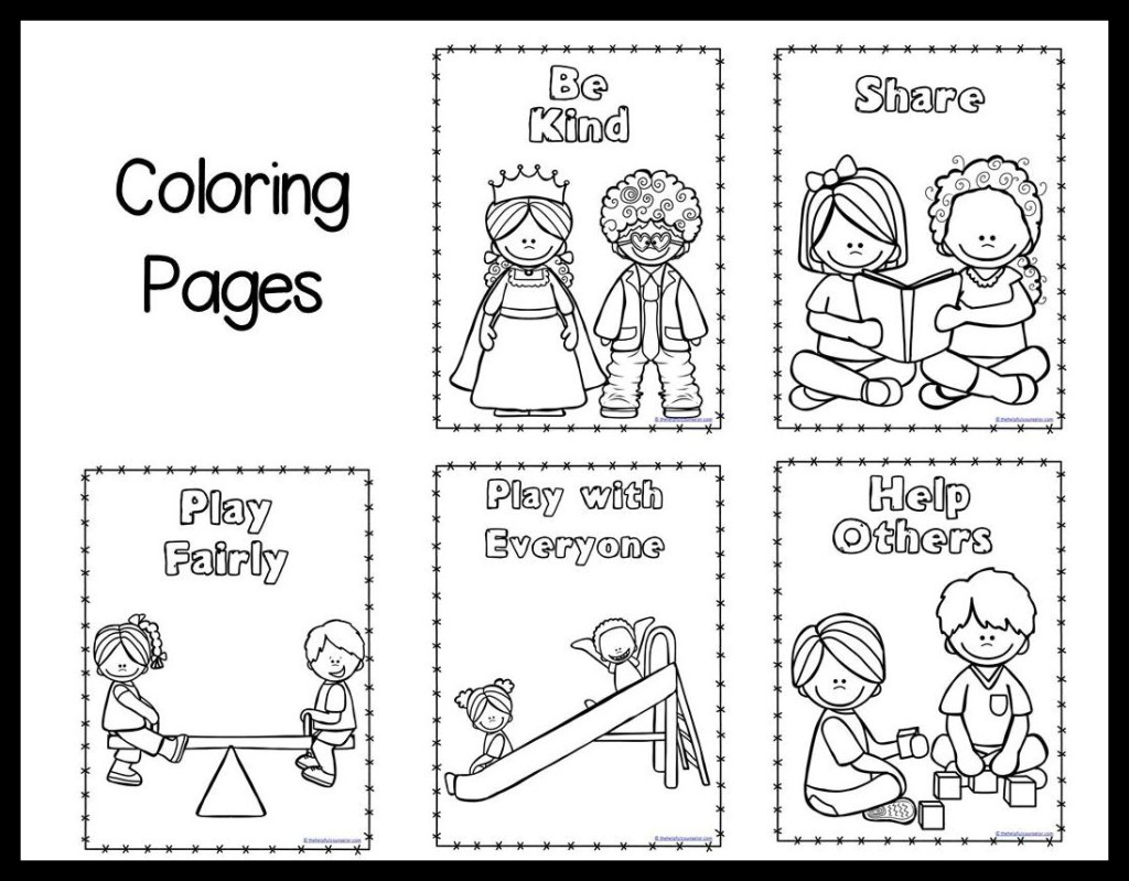 coloring pages for kindness photo - 1