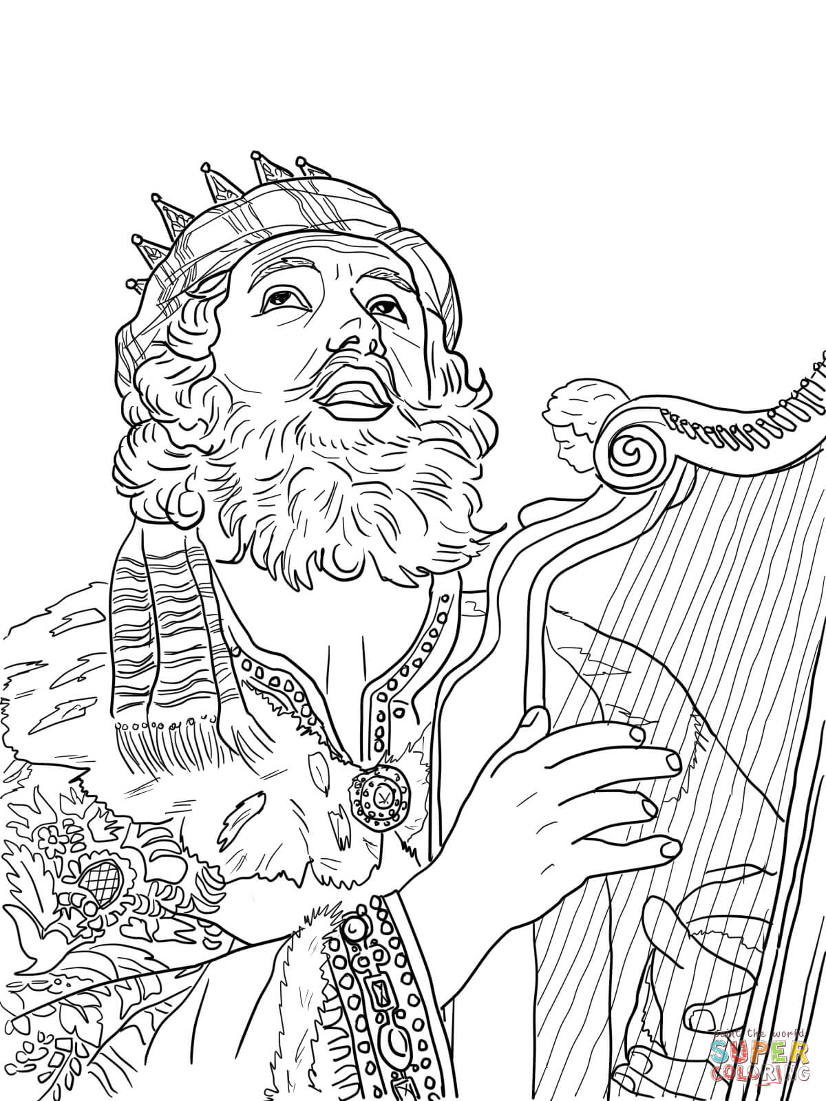 coloring pages for king david photo - 1