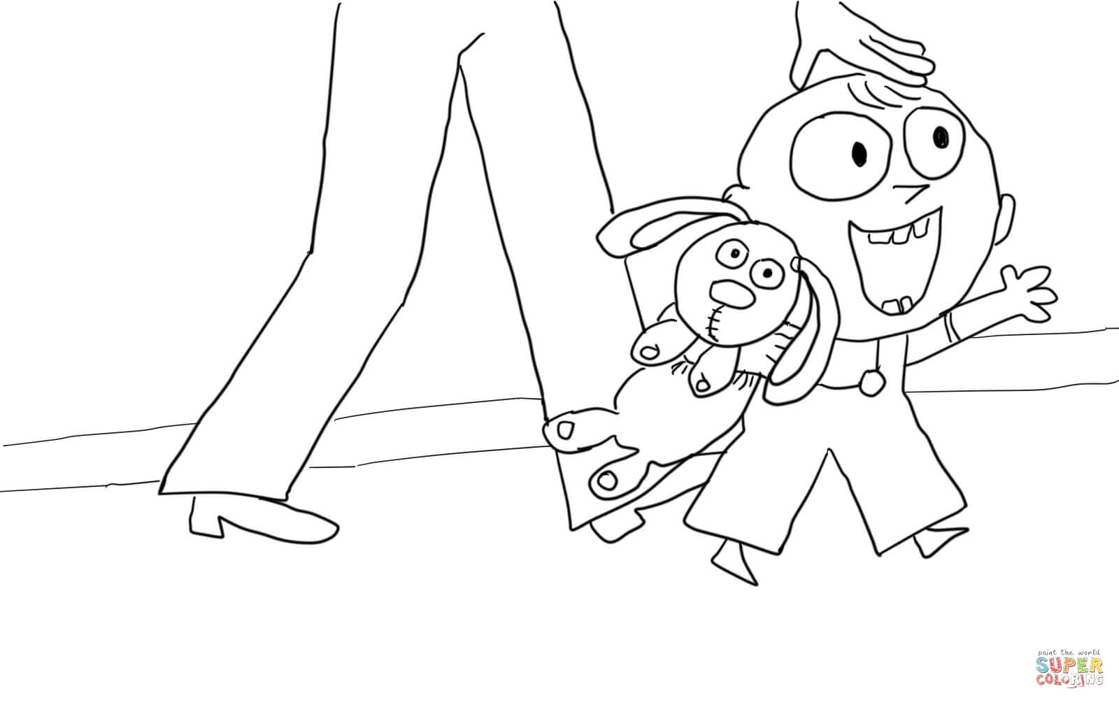 coloring pages for knuffle bunny photo - 1