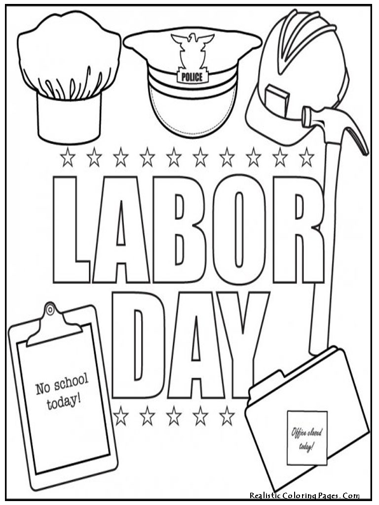 coloring pages for labor day photo - 1
