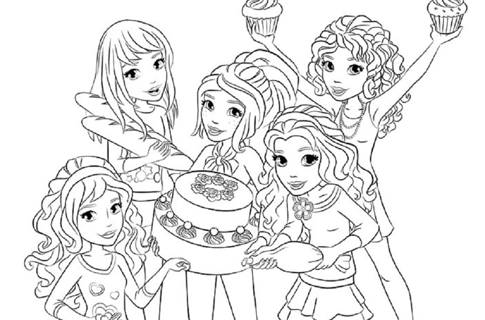 coloring pages for lego friends photo - 1