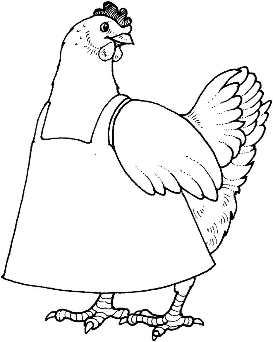 coloring pages for little red hen photo - 1