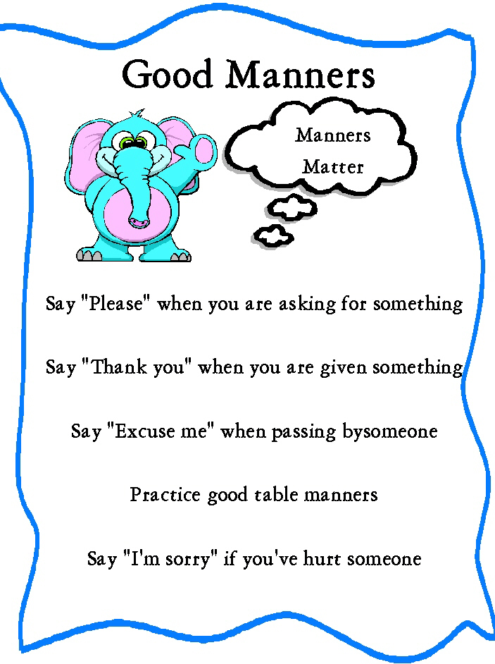 coloring pages for manners photo - 1