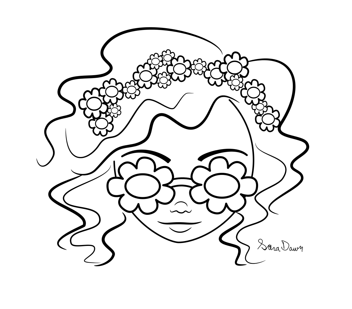coloring pages for may flowers photo - 1