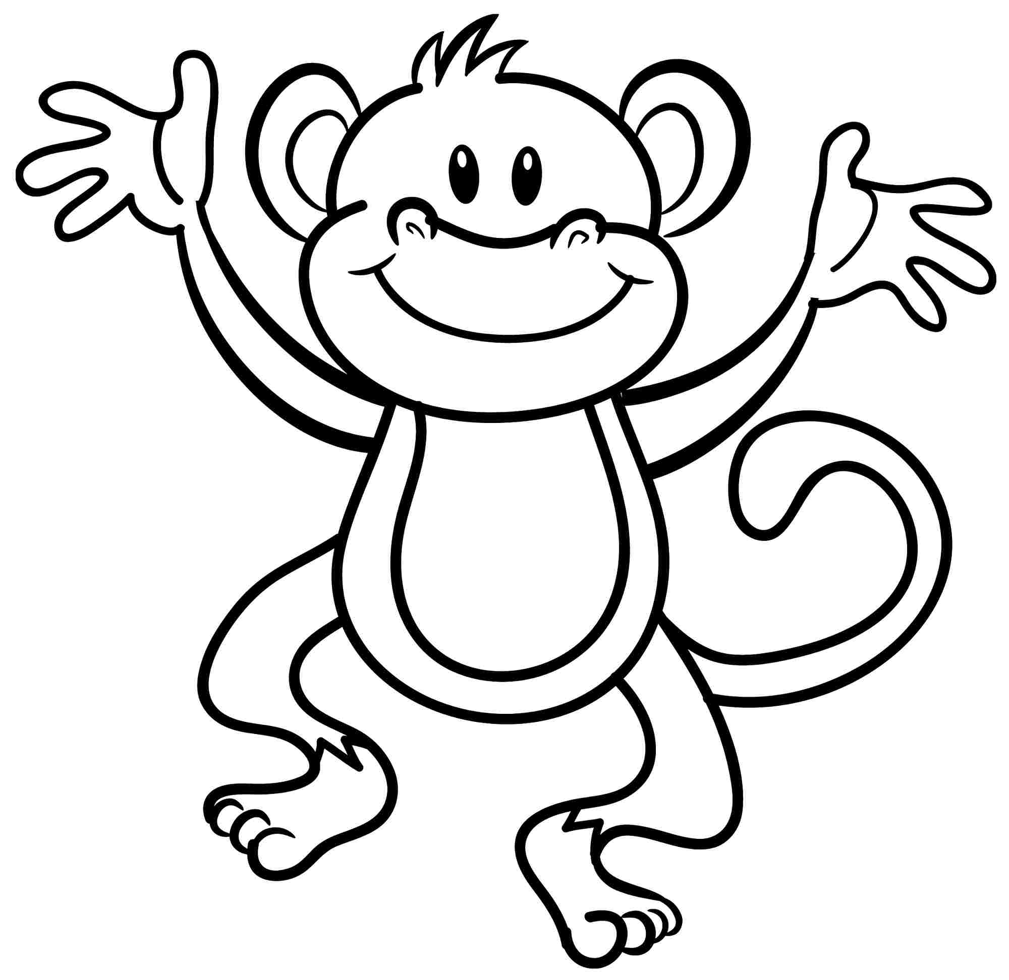 coloring pages for monkeys photo - 1