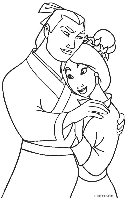 coloring pages for mulan photo - 1