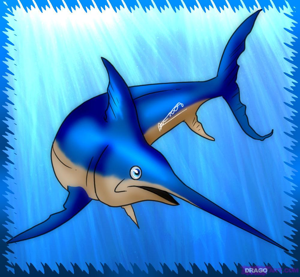 coloring pages swordfish photo - 1