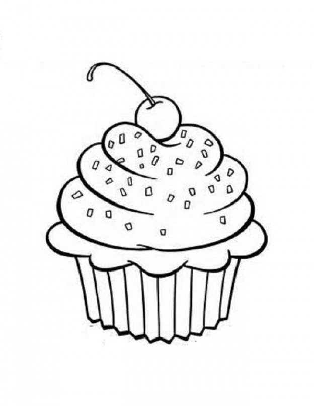 cupcake coloring pages photo - 1
