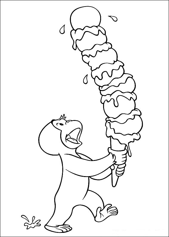 curious george coloring pages photo - 1