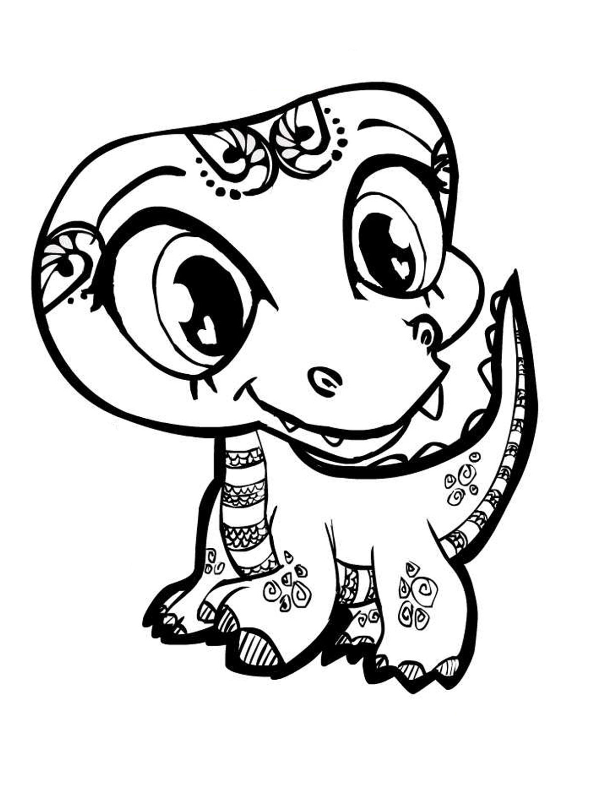 cute animal coloring pages photo - 1