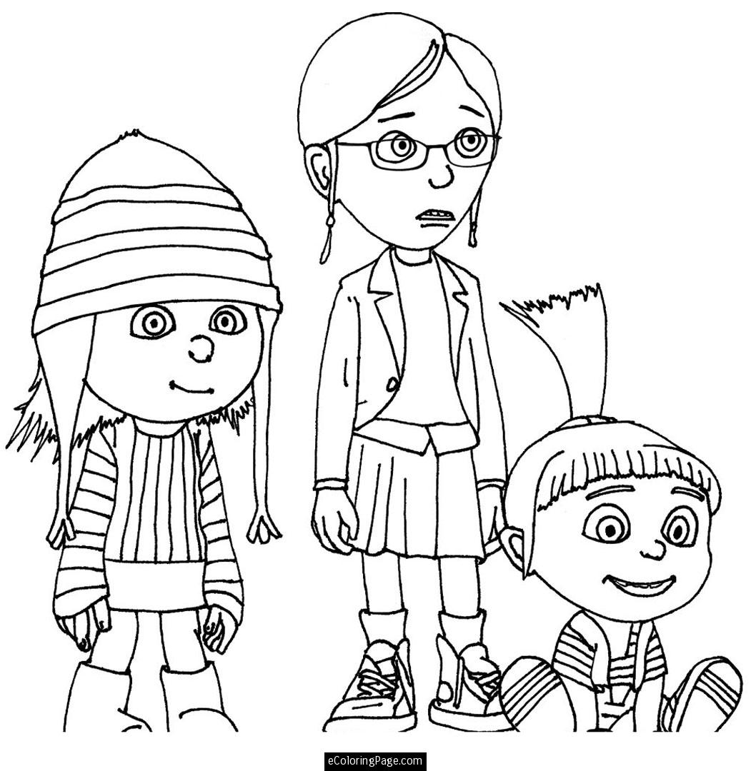 despicable me coloring pages photo - 1