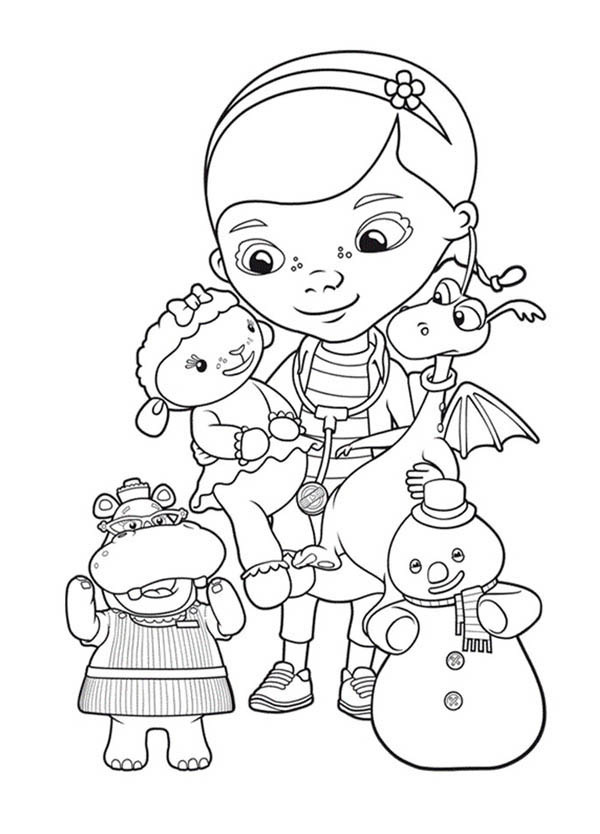 doc mcstuffins coloring pages photo - 1