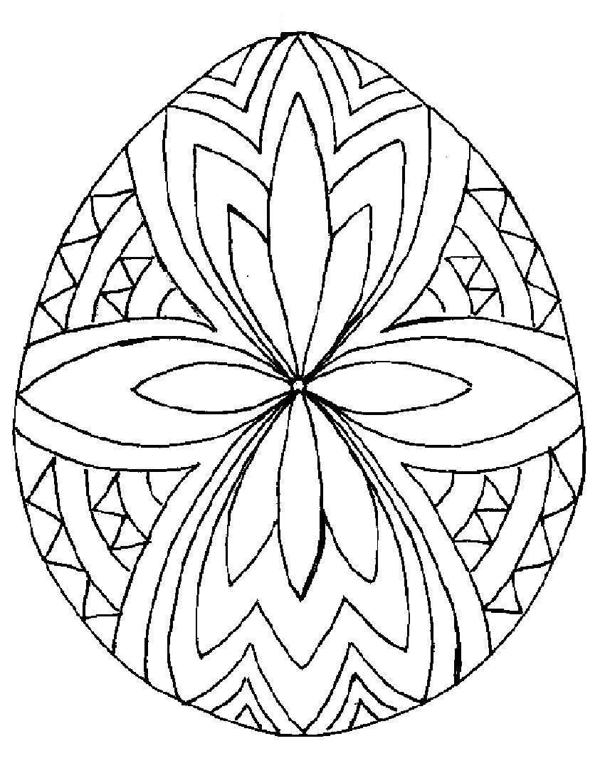 easter egg coloring pages photo - 1